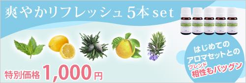 【期間限定】爽やかリフレッシュ5本set